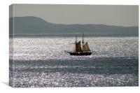 Barge in La Bocaina, Lanzarote, Canvas Print