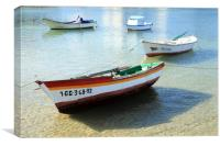 Boat in Arrecife Harbour, Canvas Print