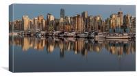 Coal Harbour Vancouver Canada, Canvas Print