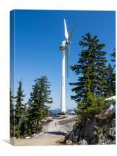 Wind turbine Grouse Mountain, Canvas Print