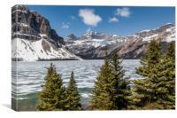 Bow Lake Alberta Canada, Canvas Print