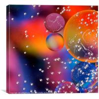 Bright bubble abstract., Canvas Print