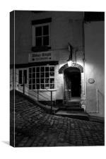 Abbey steps tearooms, Canvas Print