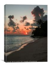Sunset Over The Maldives, Canvas Print