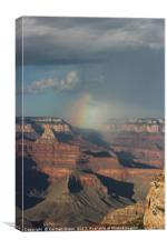Rainbow over the Grand Canyon National Park, Canvas Print
