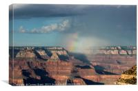 Rainbow over the Grand Canyon National Park , Canvas Print
