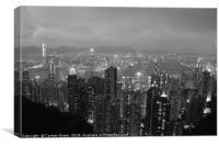 Hong Kong at night, Canvas Print