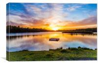Sunset At Horseshoe Lake, Canvas Print
