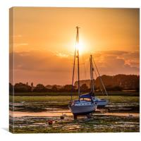 Two Moored Yachts , Canvas Print