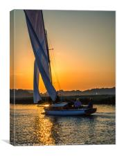 Sun Sets on Three Rivers, Canvas Print