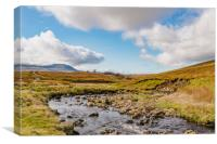 Ingleborough from Whernside, Canvas Print