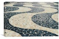 Portuguese pattern on ground - Copacabana, Canvas Print