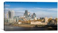 Tower of London and City of London , Canvas Print