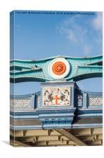 Detail of facade of London Bridge, UK, Canvas Print
