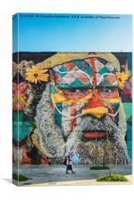 Mural by Eduardo Kobra in Rio de Janeiro, Brazil, Canvas Print