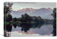 River Adda in northern Italy, Canvas Print