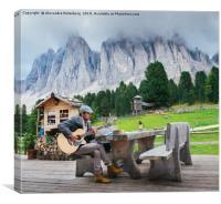 Music in the Italian Dolomites, Canvas Print