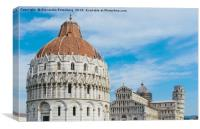 Piazza dei Miracoli in Pisa, Italy, Canvas Print