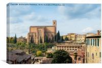 San Domenico church in Siena, Italy, Canvas Print