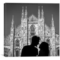 Young love in Milan, Canvas Print