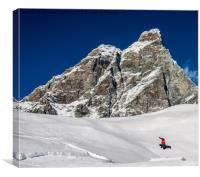 Freestyle Snowboarding, Canvas Print