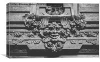 Gothic entrance, Canvas Print