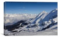Alps at Winter, Canvas Print