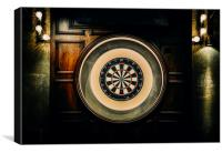 Rustic Empty Dartboard, Canvas Print