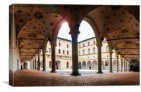 Arches at Sforzesco Castle, Milan, Italy, Canvas Print