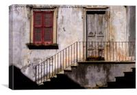 Rustic Italian Entrance Facade, Canvas Print