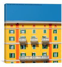 Mediterranean Colours on Building Facade, Canvas Print