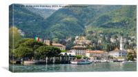 Italian village on Lake Como, Canvas Print