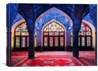 Pink Mosque, Iran, Canvas Print