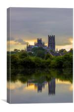 Reflections of Ely Cathedral, Canvas Print