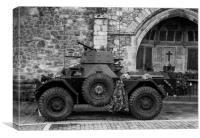 Ferret Scout Car, Canvas Print