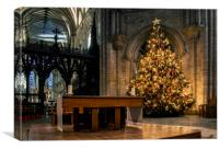 Christmas at the Cathedral, Canvas Print