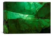 Crystalline Green, Canvas Print
