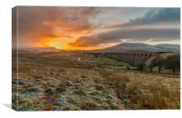 Sunrise at Ribblehead Viaduct, Canvas Print