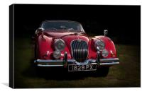 Classic Jaguar XK150 Roadster in Red, Canvas Print