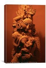 The hindu goddess, Canvas Print