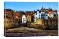 Robin Hood's Bay in colour, Canvas Print