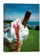 Ice Cream Treat, Canvas Print