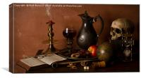 Still Life with Port and Walnuts - A Winter Scene, Canvas Print