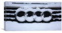 Winter Audi, Canvas Print