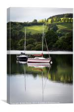 Reflections on Lake Ullswater, Canvas Print