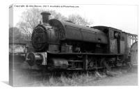 Steam Train Graveyard, at Tanfield Railway, Canvas Print