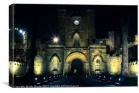 Durham Castle at night, Canvas Print