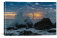 Incoming Tide at Sun Rise, Canvas Print