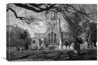 St. Mary's Church in B/W, Canvas Print