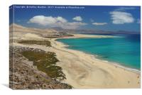 Playa de Sotavento, Fuerteventura, Canvas Print